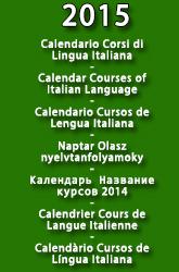 Calendario Corsi Lingua Italiana 2015